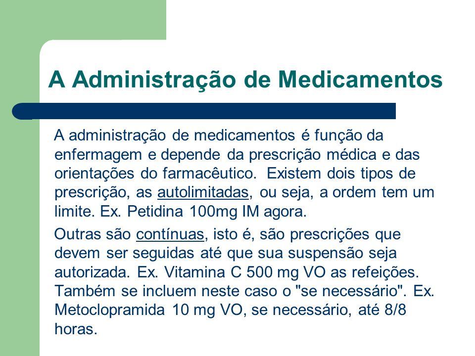 A Administração de Medicamentos