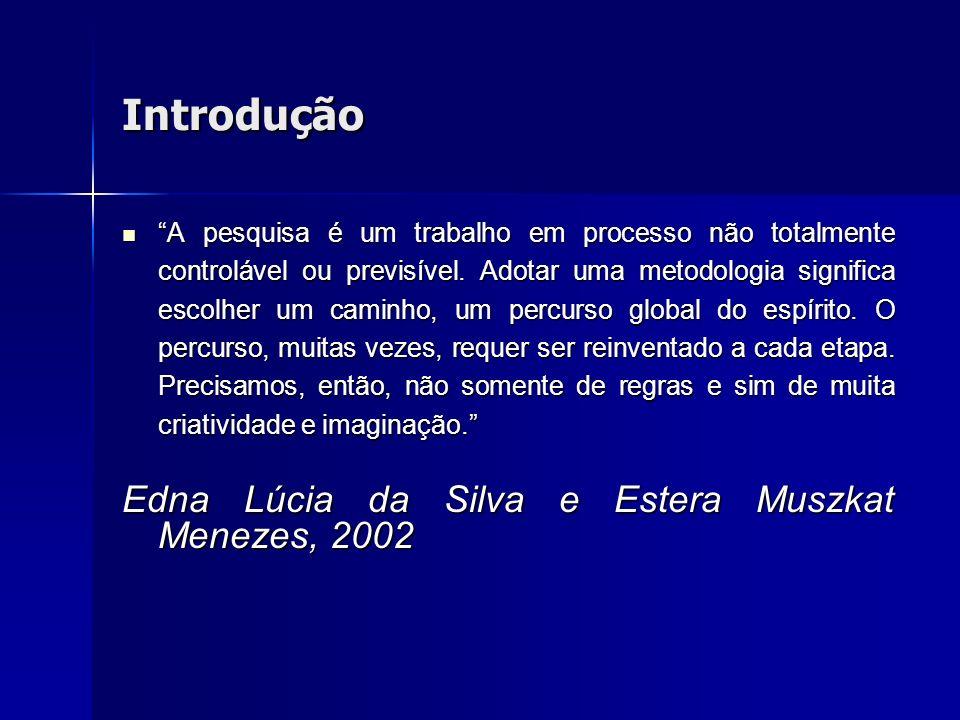 Introdução Edna Lúcia da Silva e Estera Muszkat Menezes, 2002