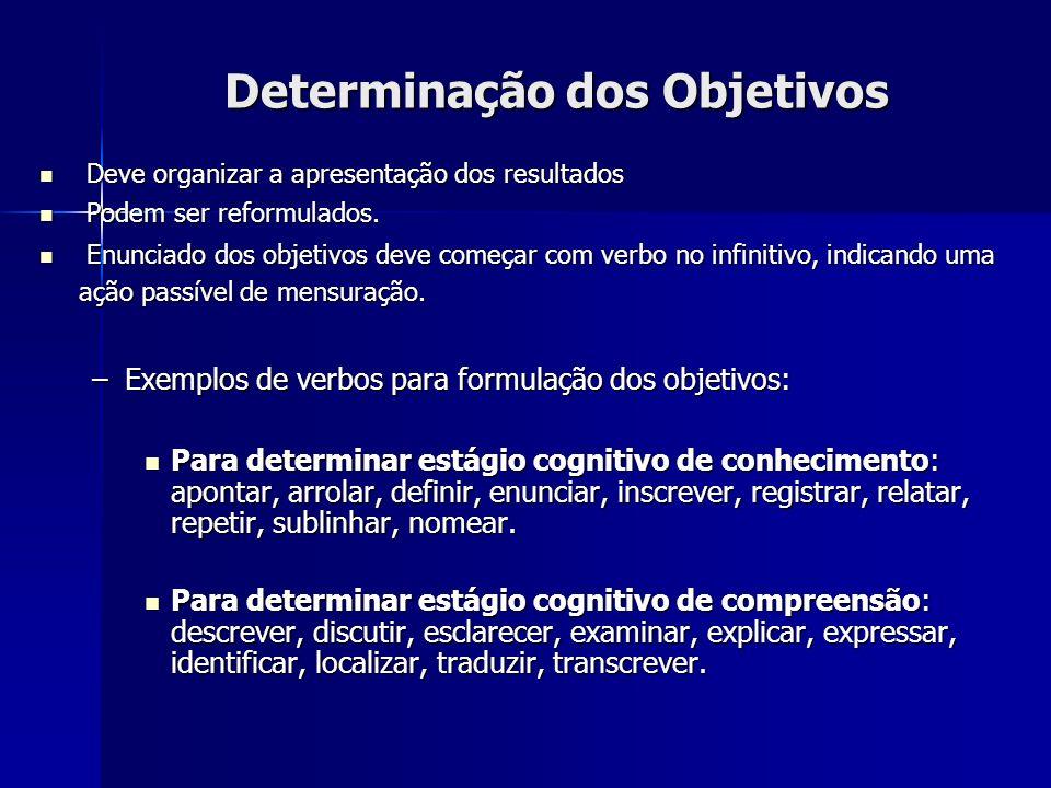 Determinação dos Objetivos
