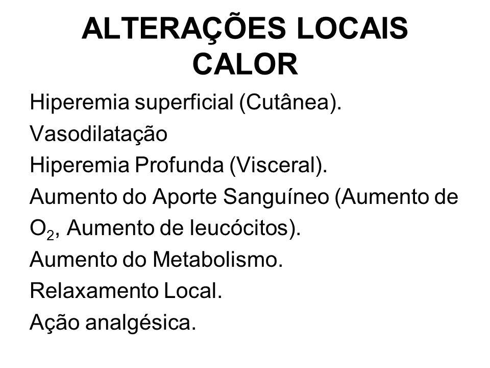 ALTERAÇÕES LOCAIS CALOR