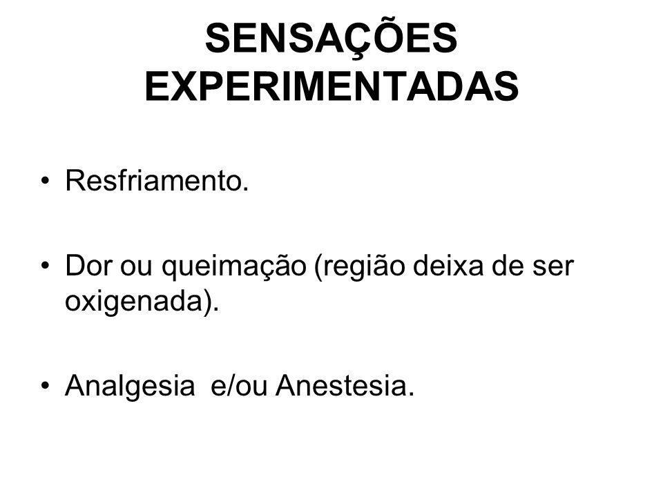 SENSAÇÕES EXPERIMENTADAS