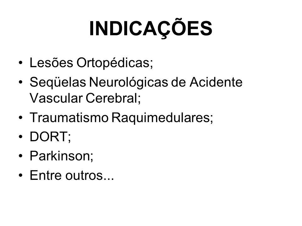 INDICAÇÕES Lesões Ortopédicas;