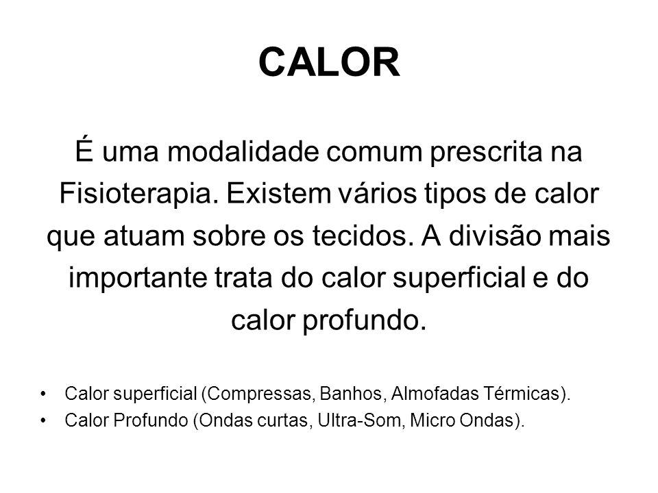 CALOR É uma modalidade comum prescrita na