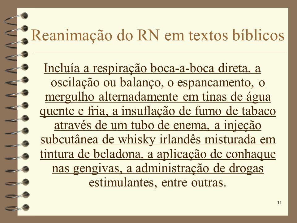 Reanimação do RN em textos bíblicos