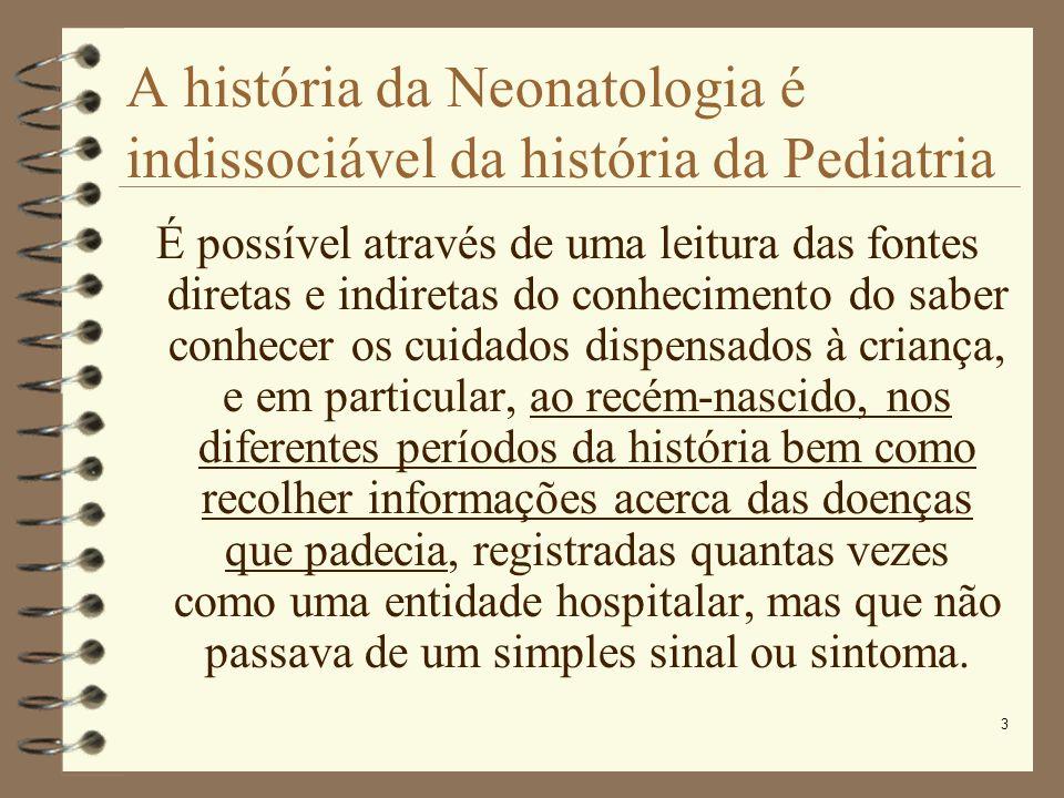 A história da Neonatologia é indissociável da história da Pediatria