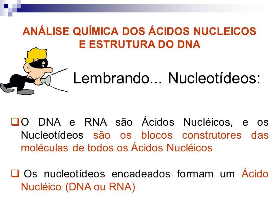 ANÁLISE QUÍMICA DOS ÁCIDOS NUCLEICOS