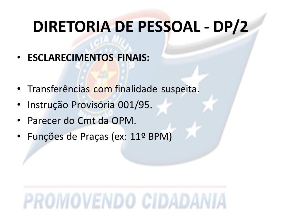 DIRETORIA DE PESSOAL - DP/2
