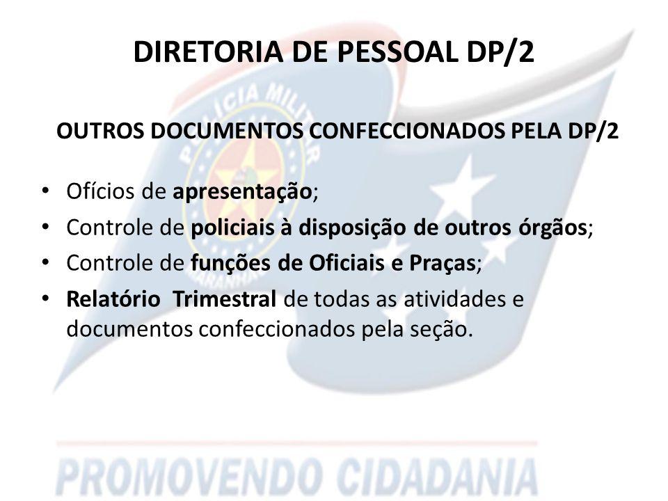 DIRETORIA DE PESSOAL DP/2 OUTROS DOCUMENTOS CONFECCIONADOS PELA DP/2