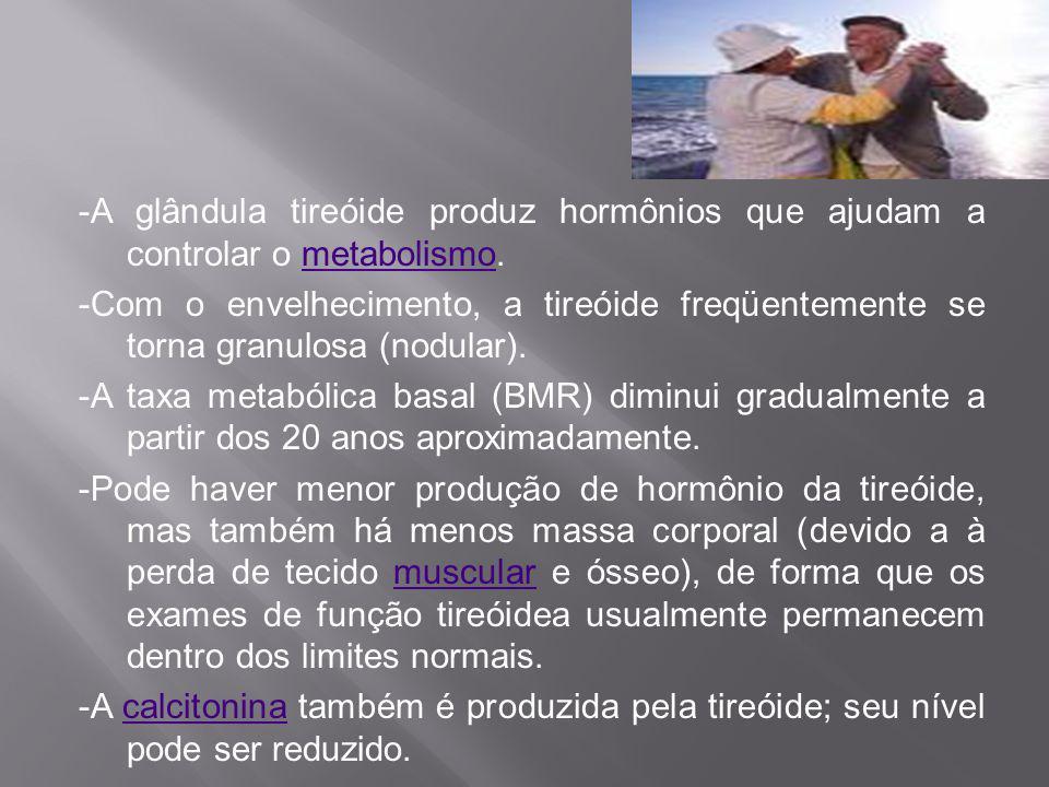 -A glândula tireóide produz hormônios que ajudam a controlar o metabolismo.