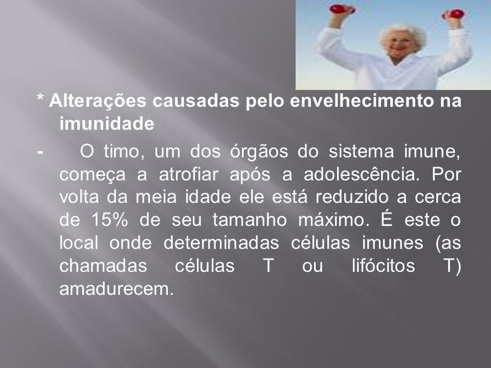 * Alterações causadas pelo envelhecimento na imunidade