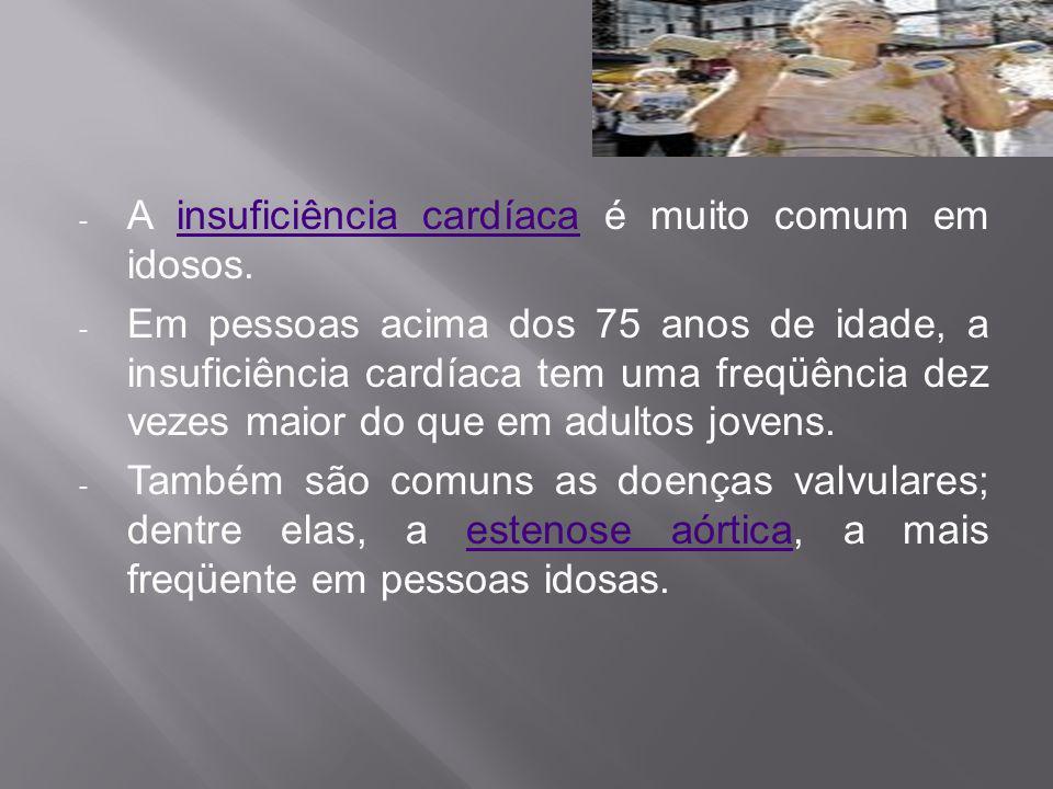 A insuficiência cardíaca é muito comum em idosos.