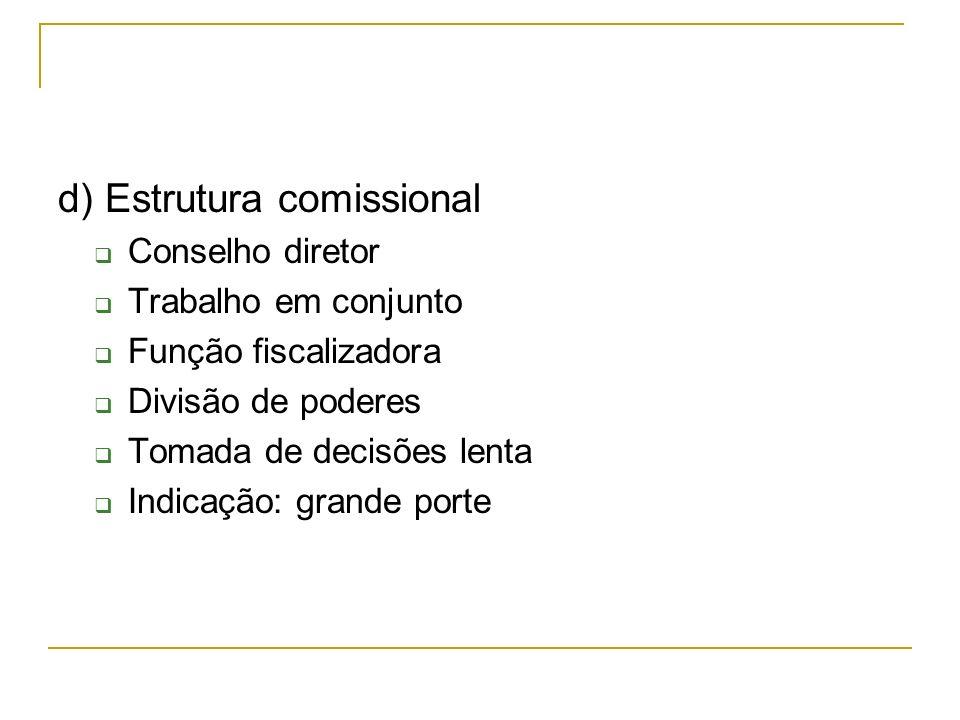 d) Estrutura comissional