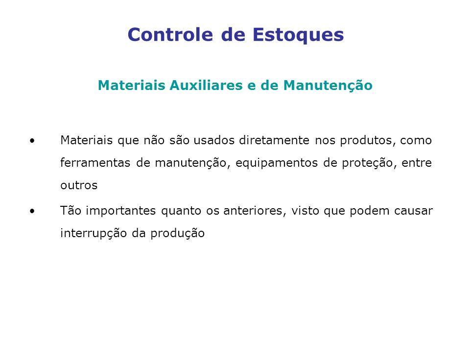 Materiais Auxiliares e de Manutenção