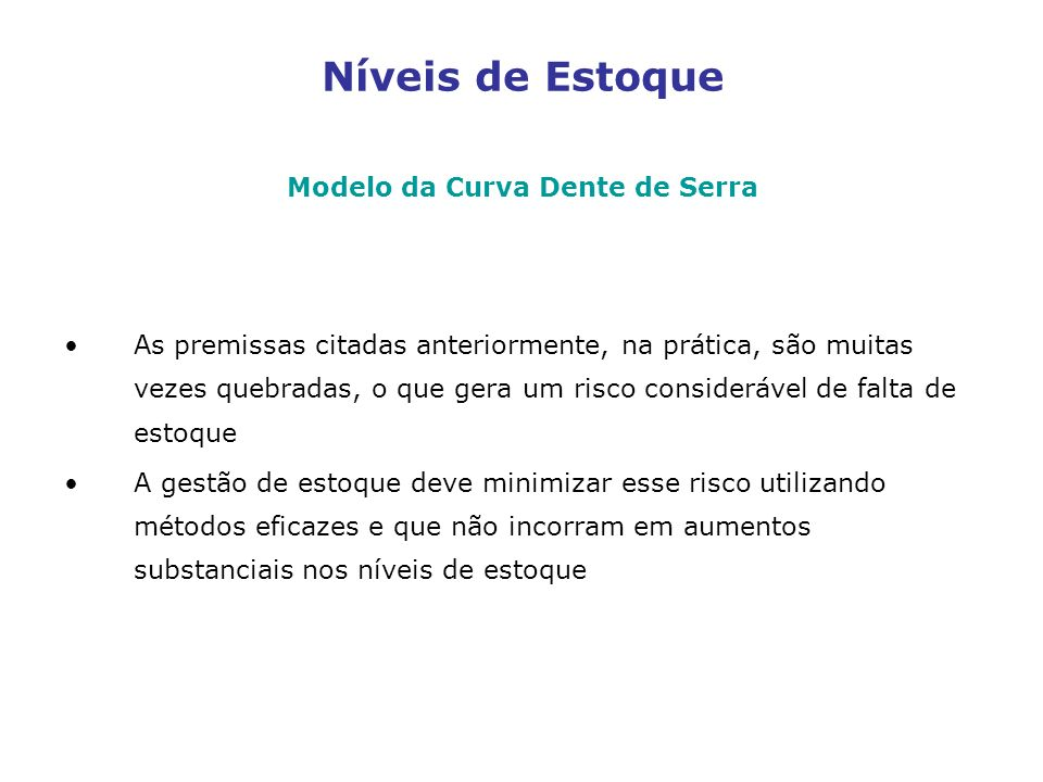 Modelo da Curva Dente de Serra