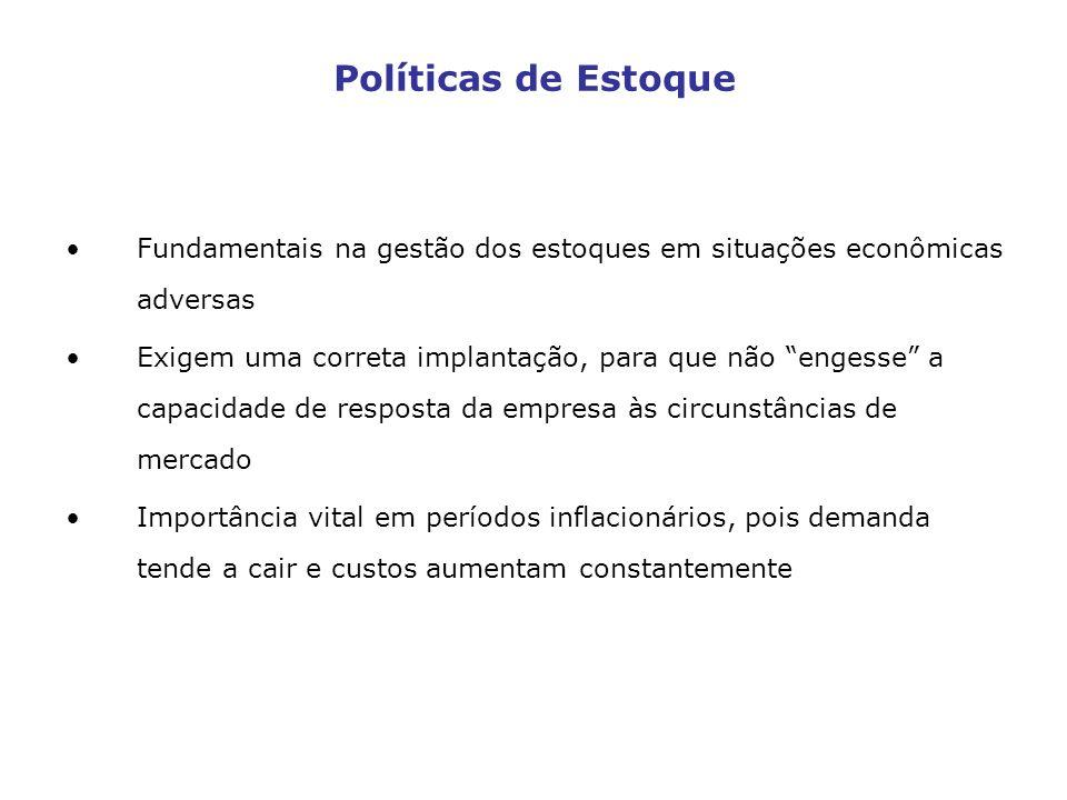 Políticas de Estoque Fundamentais na gestão dos estoques em situações econômicas adversas.