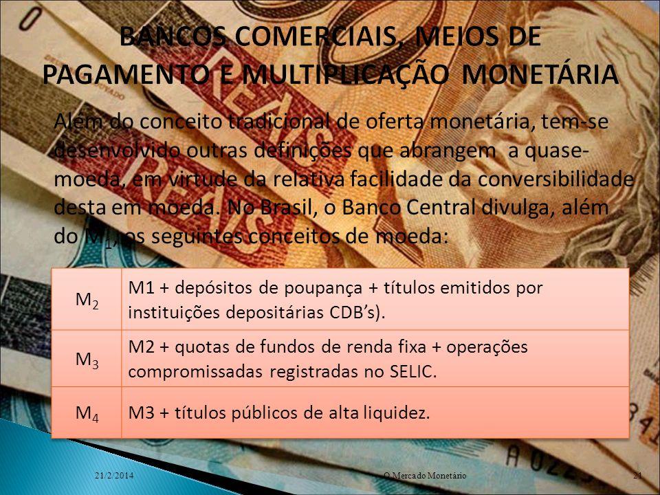 BANCOS COMERCIAIS, MEIOS DE PAGAMENTO E MULTIPLICAÇÃO MONETÁRIA