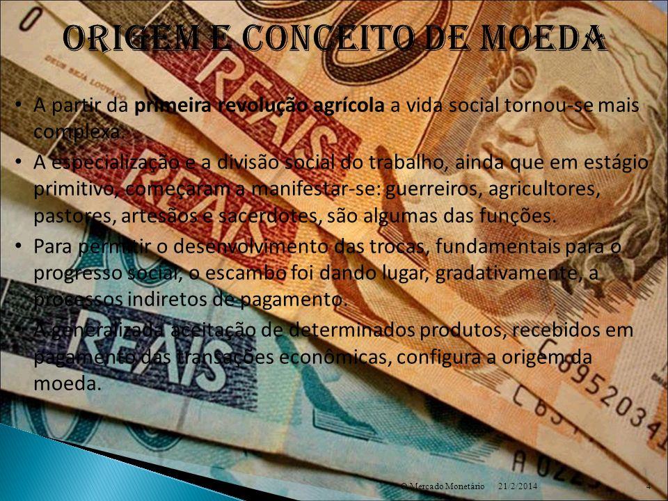 ORIGEM E CONCEITO DE MOEDA