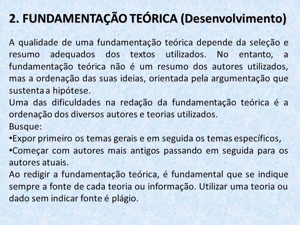 2. FUNDAMENTAÇÃO TEÓRICA (Desenvolvimento)