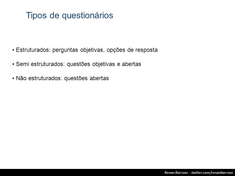 Tipos de questionários