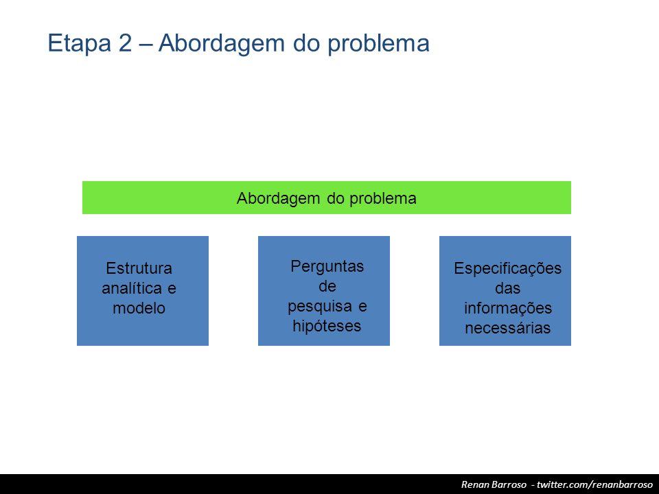 Etapa 2 – Abordagem do problema