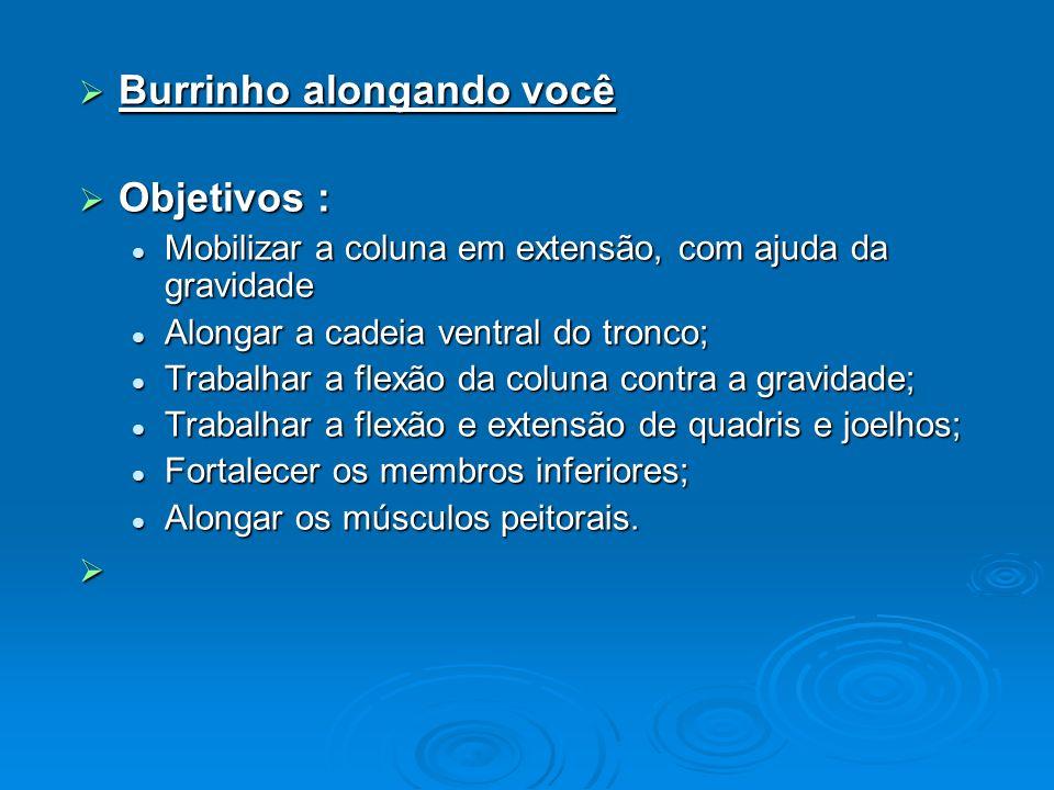 Burrinho alongando você Objetivos :