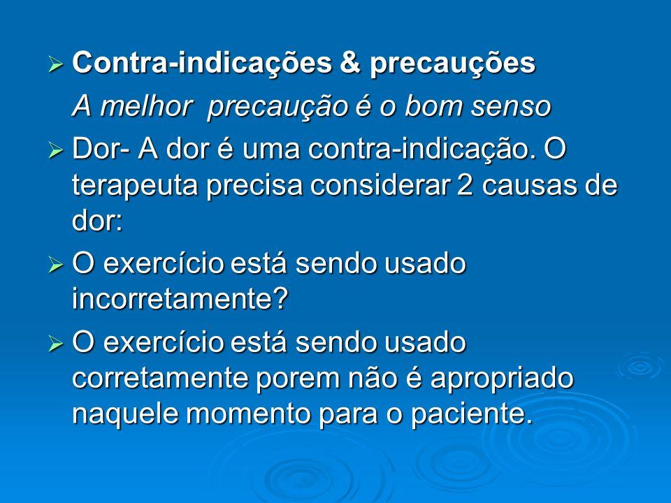 Contra-indicações & precauções