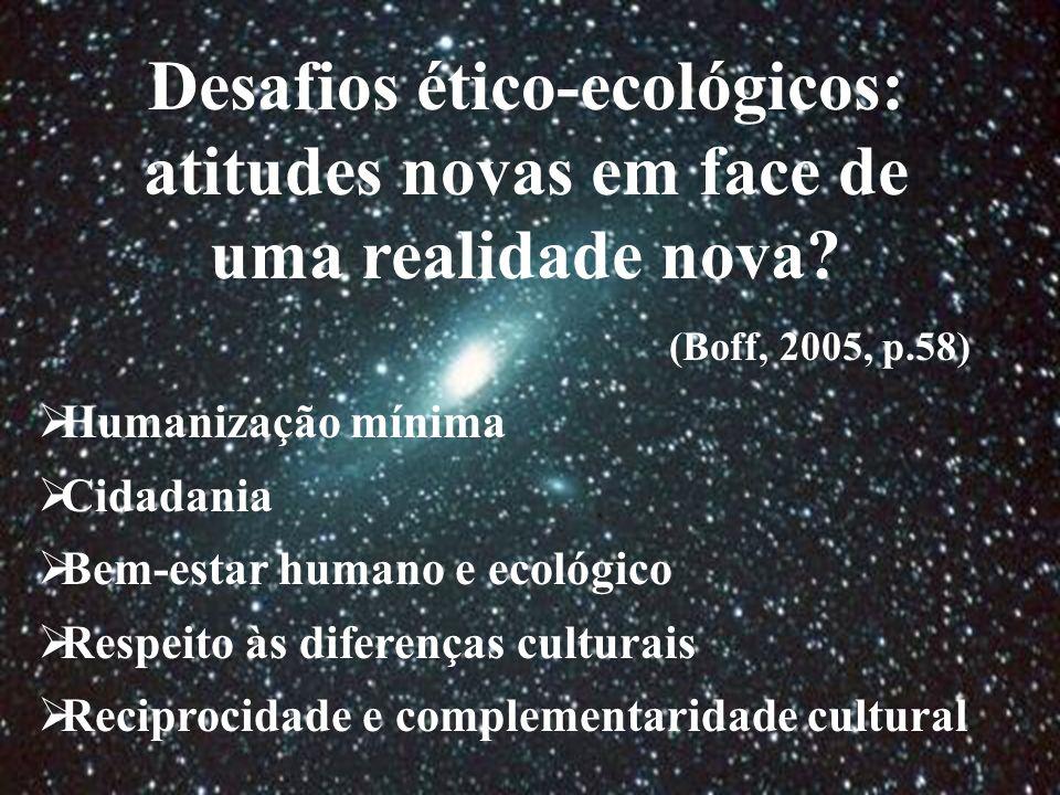 Desafios ético-ecológicos: atitudes novas em face de uma realidade nova