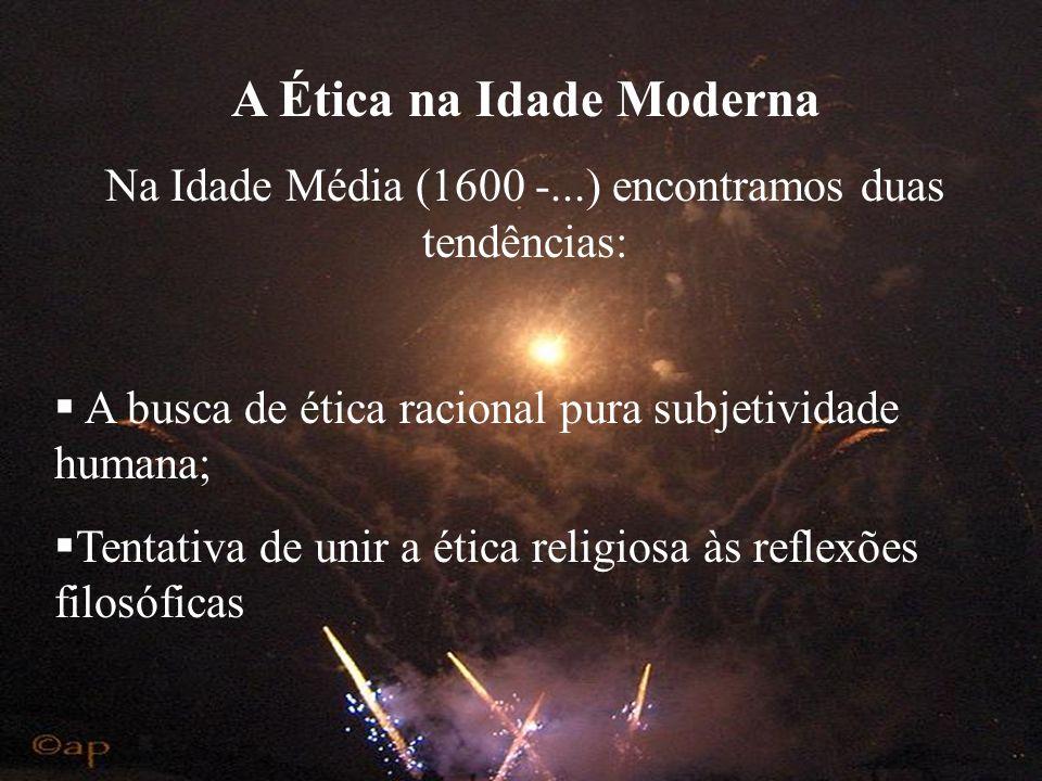 A Ética na Idade Moderna