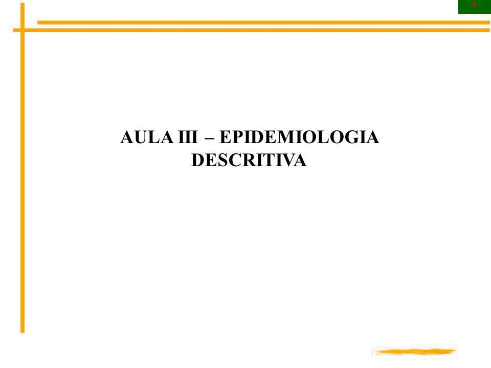 AULA III – EPIDEMIOLOGIA DESCRITIVA