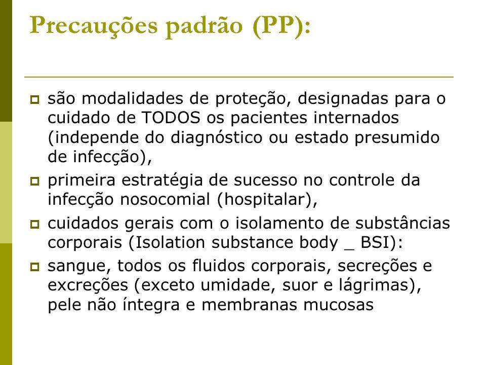 Precauções padrão (PP):