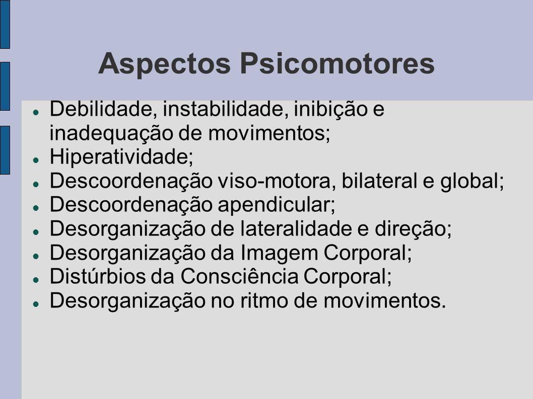 Aspectos Psicomotores