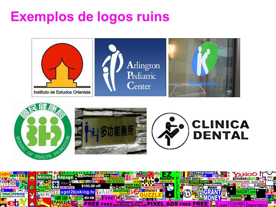 Exemplos de logos ruins