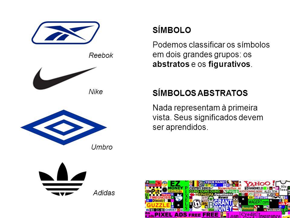 SÍMBOLO Podemos classificar os símbolos em dois grandes grupos: os abstratos e os figurativos. SÍMBOLOS ABSTRATOS.