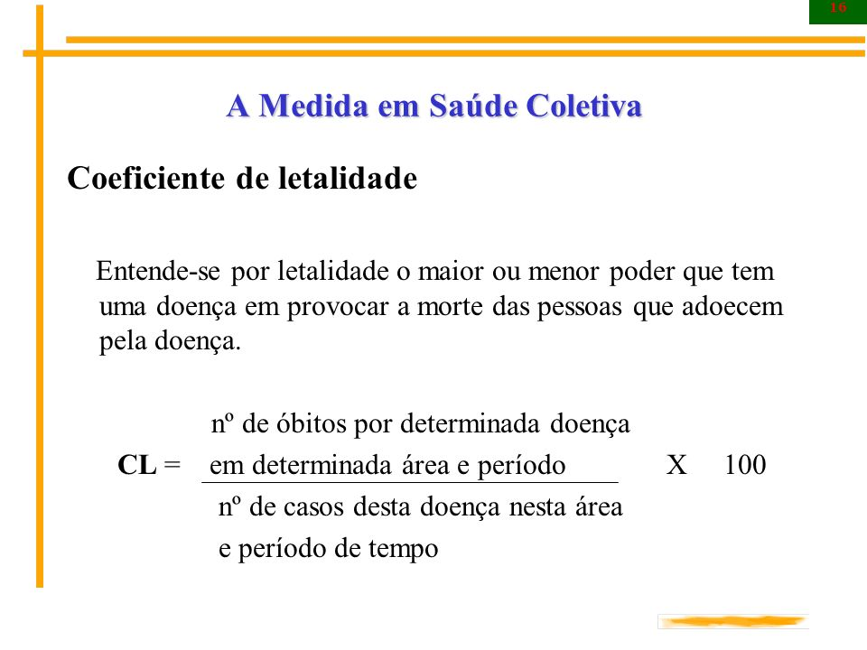 A Medida em Saúde Coletiva