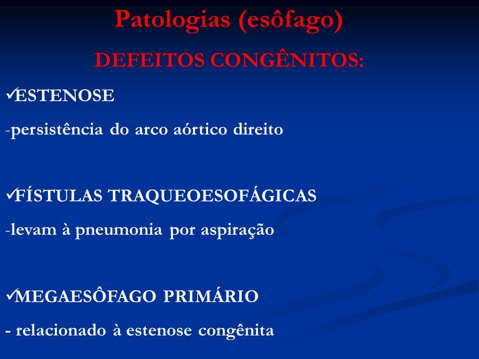 Patologias (esôfago) DEFEITOS CONGÊNITOS: ESTENOSE