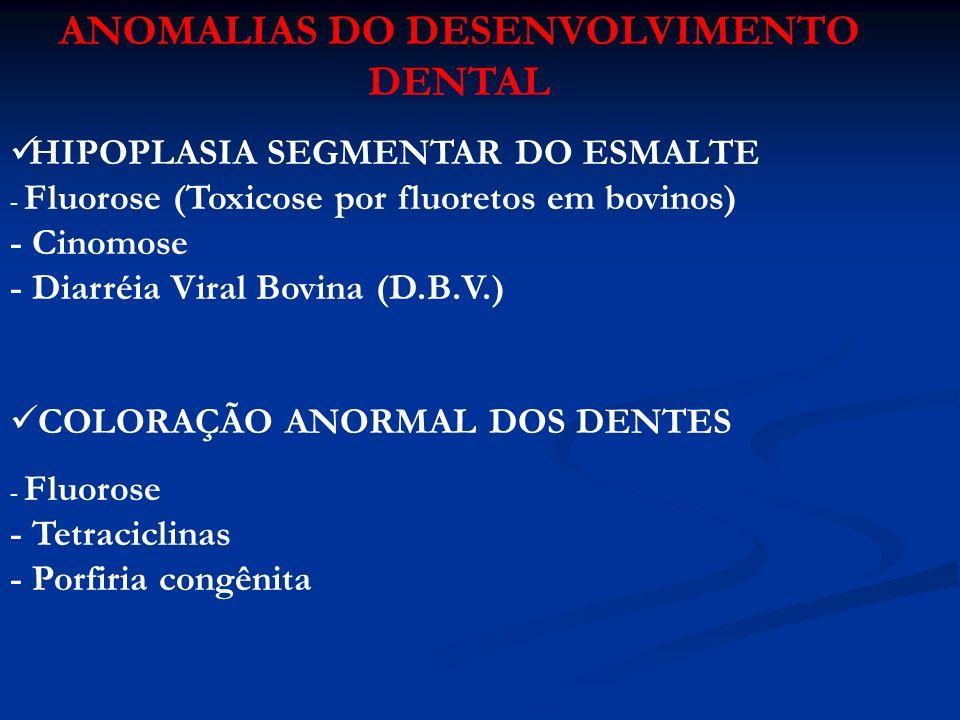 ANOMALIAS DO DESENVOLVIMENTO DENTAL