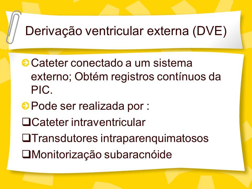 Derivação ventricular externa (DVE)