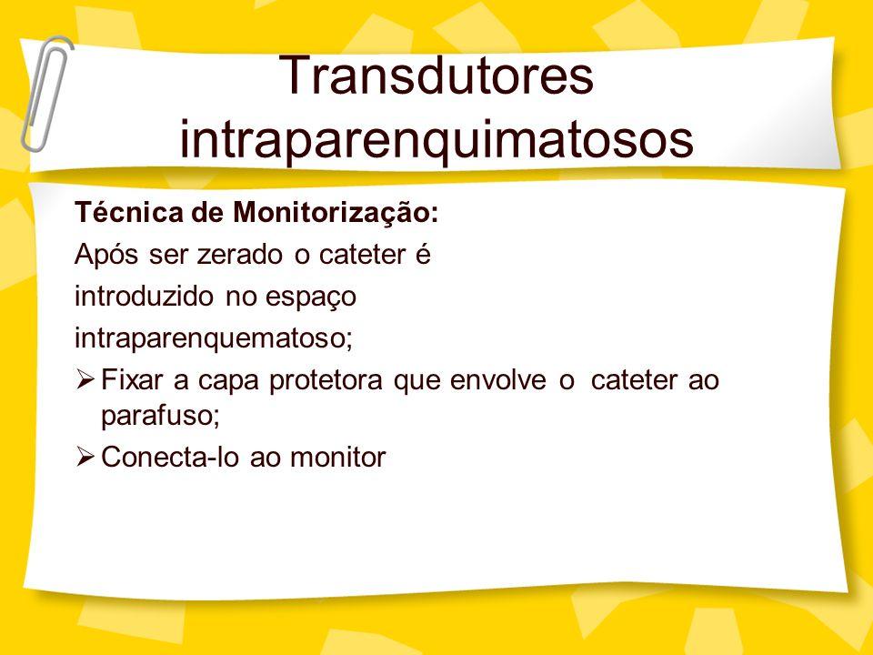 Transdutores intraparenquimatosos