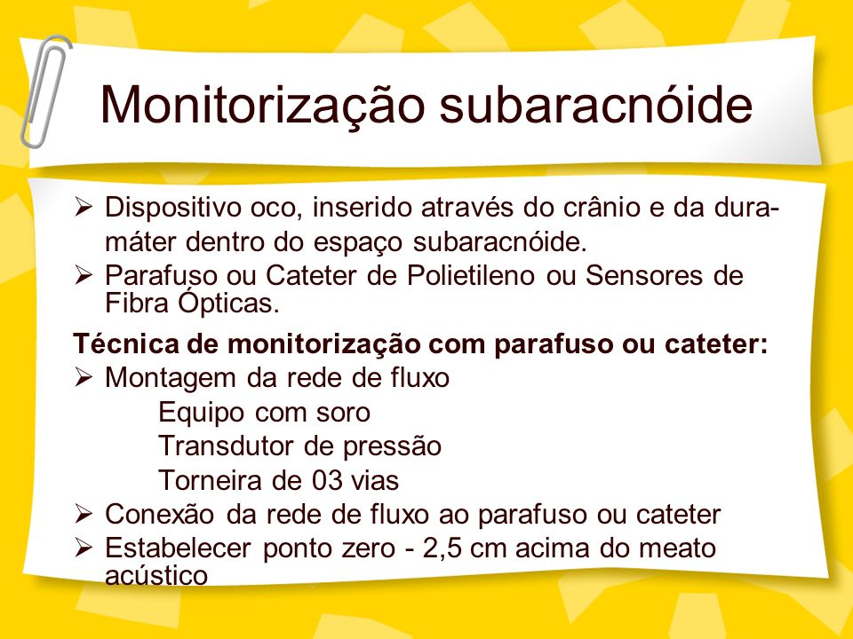 Monitorização subaracnóide