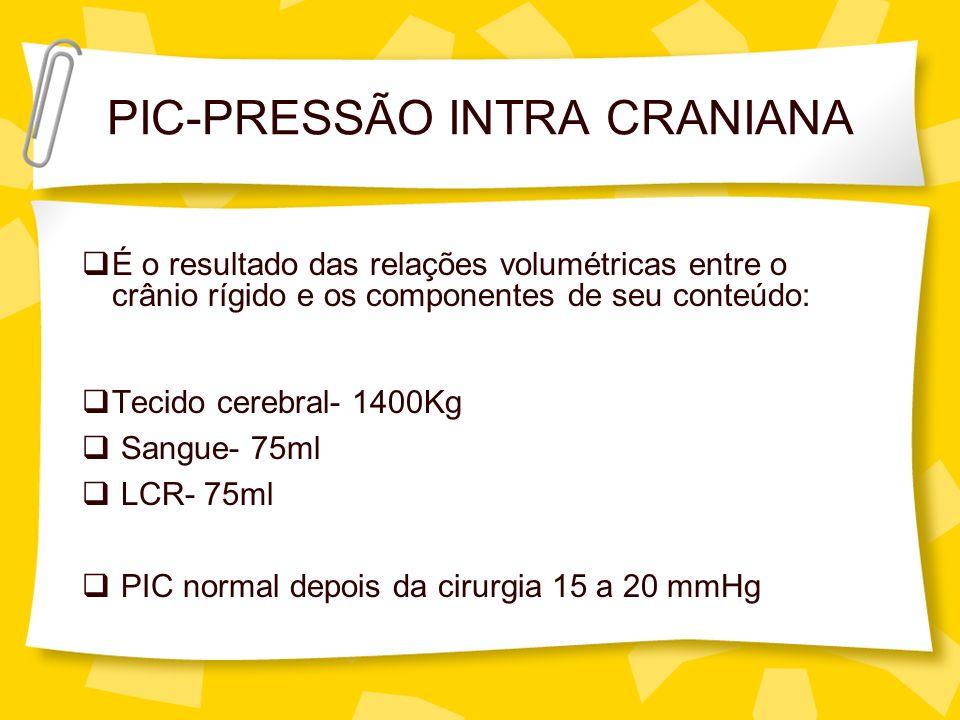 PIC-PRESSÃO INTRA CRANIANA