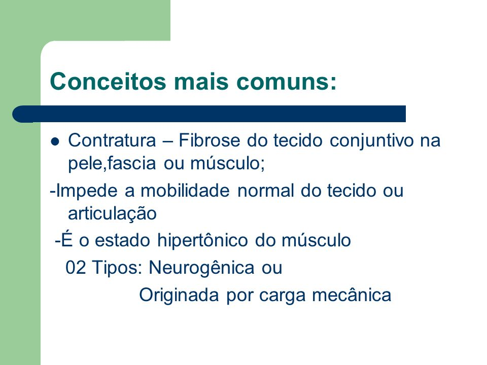 Conceitos mais comuns: