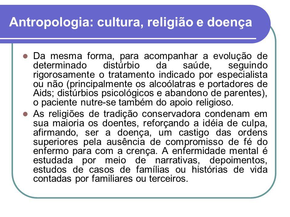 Antropologia: cultura, religião e doença