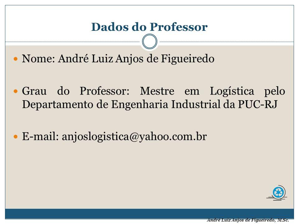 Dados do Professor Nome: André Luiz Anjos de Figueiredo