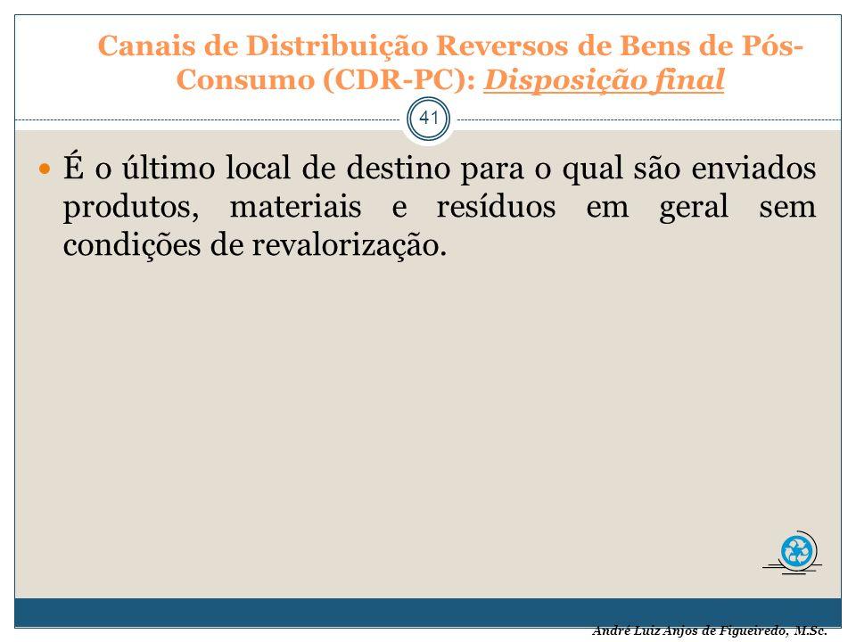 Canais de Distribuição Reversos de Bens de Pós-Consumo (CDR-PC): Disposição final