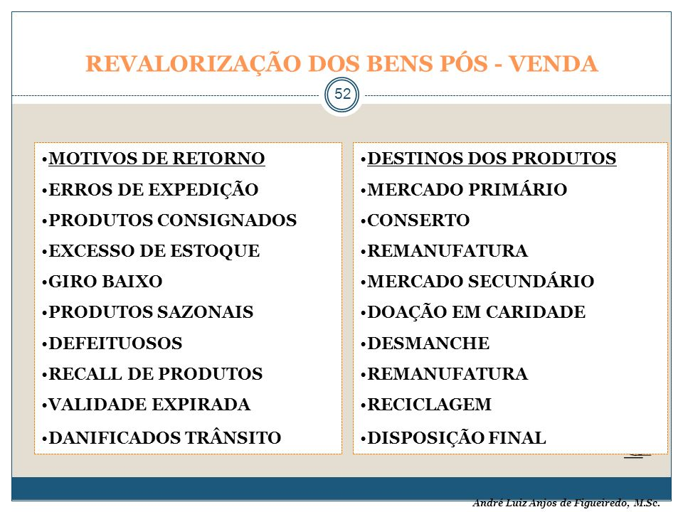 REVALORIZAÇÃO DOS BENS PÓS - VENDA