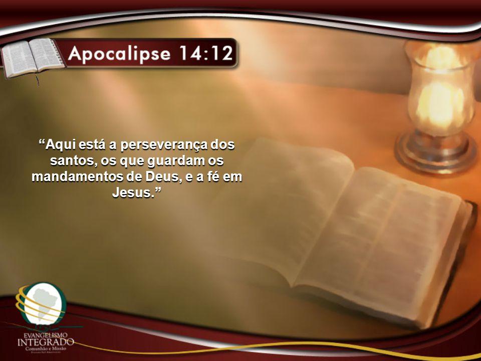 Aqui está a perseverança dos santos, os que guardam os mandamentos de Deus, e a fé em Jesus.