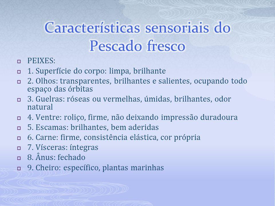 Características sensoriais do Pescado fresco