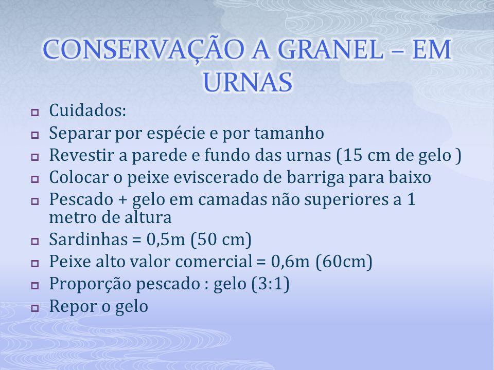 CONSERVAÇÃO A GRANEL – EM URNAS