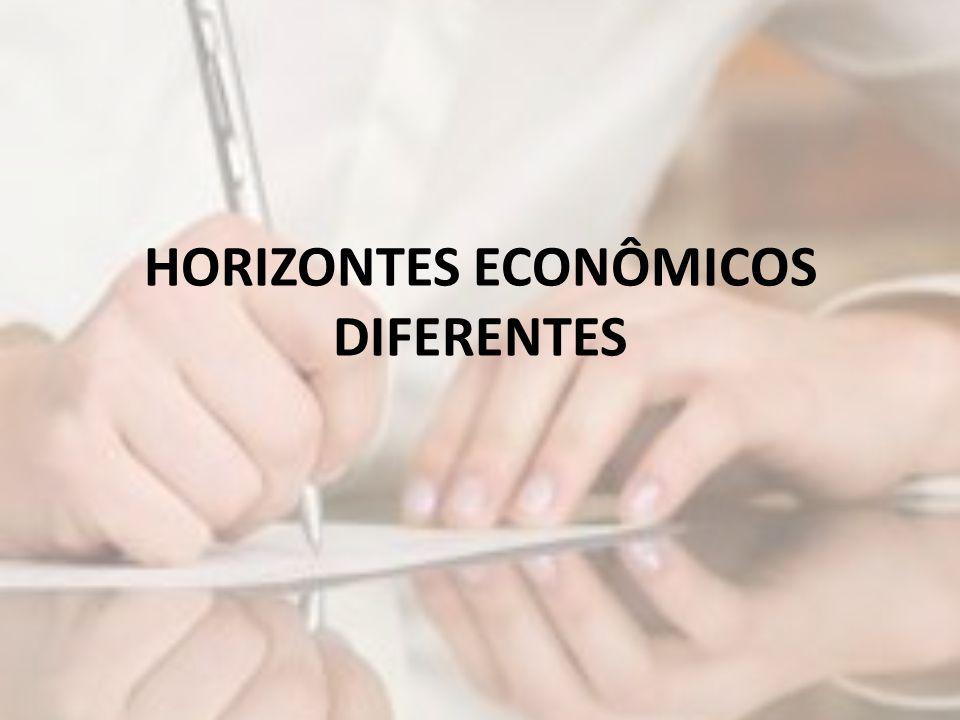 HORIZONTES ECONÔMICOS DIFERENTES