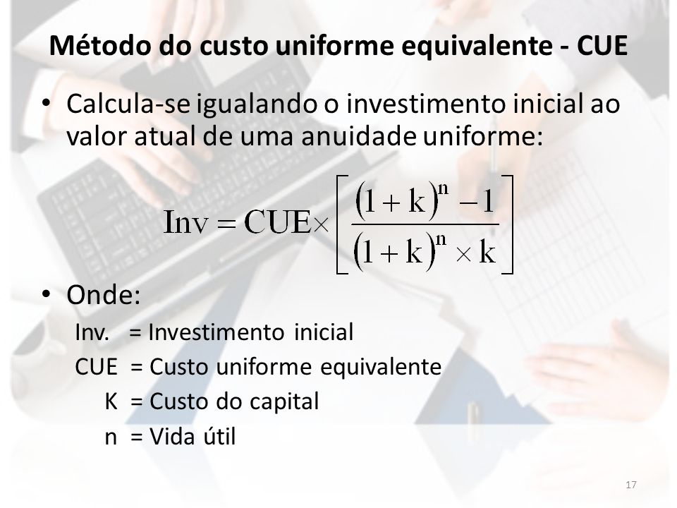 Método do custo uniforme equivalente - CUE